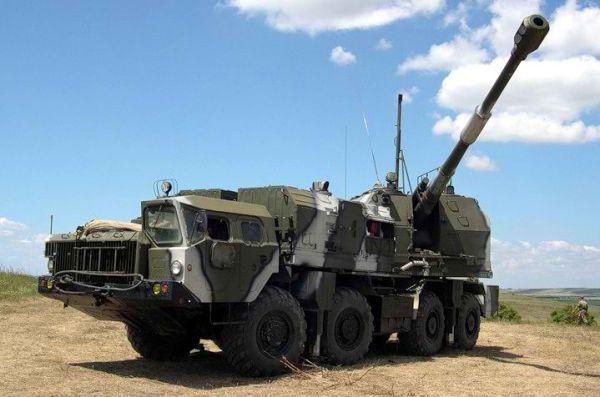 Russian Bereg SP artillery