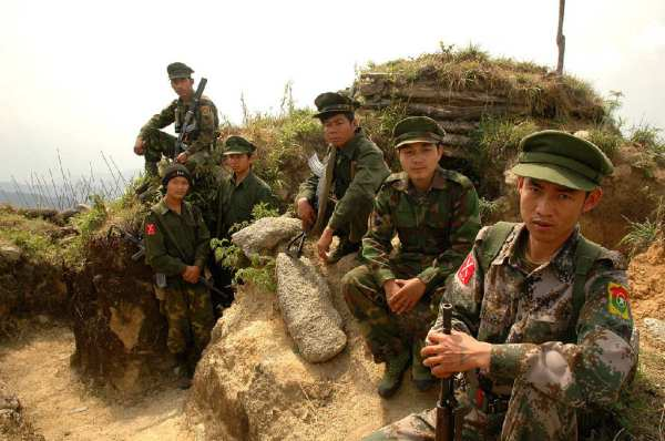 Kachin fighters