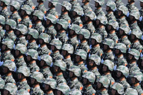 Chinese Military Parade (via Xinhua)