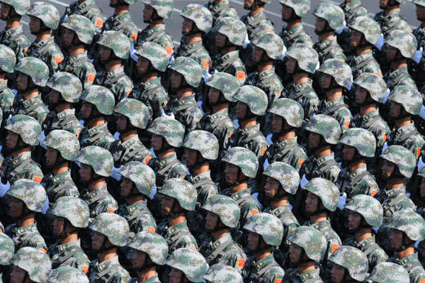 Chinese Military Parade (via Xinhua)