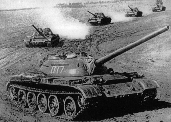 Russian tank column