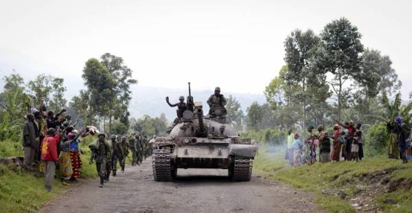 Congolese T-55 via AP