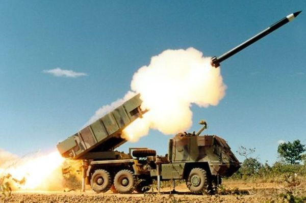 Stock image of Brazilian-made Astros MLRS