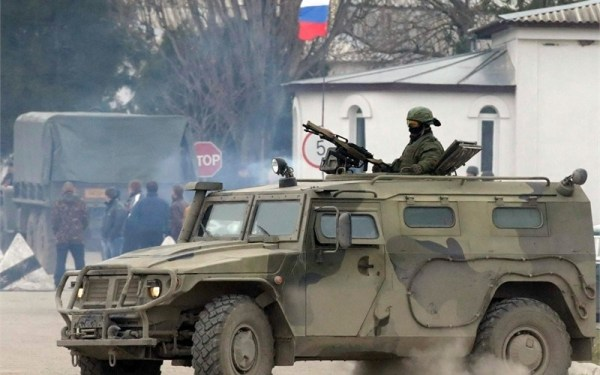 Russian GAZ Tiger in Crimea