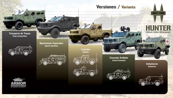 Armored Car Hunter TR-12 variants