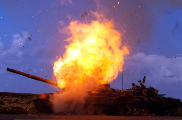Russian T-72 exploding