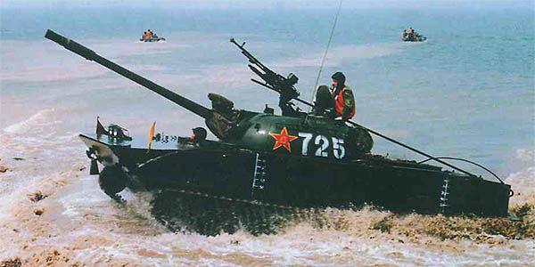 Chinese Type 63 amphibious tank