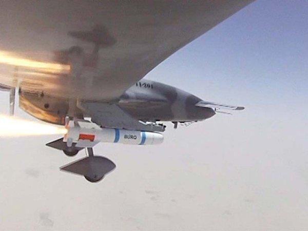 Pakistani UAV Burraq firing