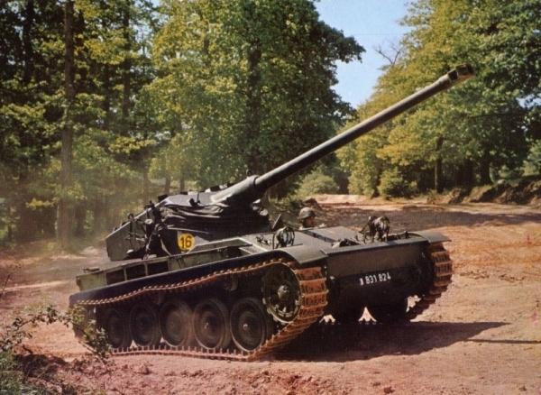 French AMX-13 light tank