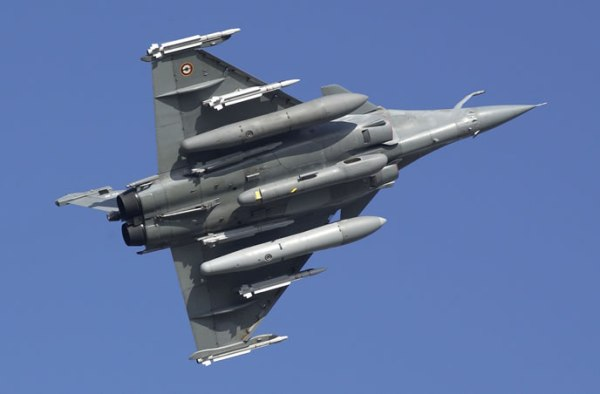 French Rafale under view