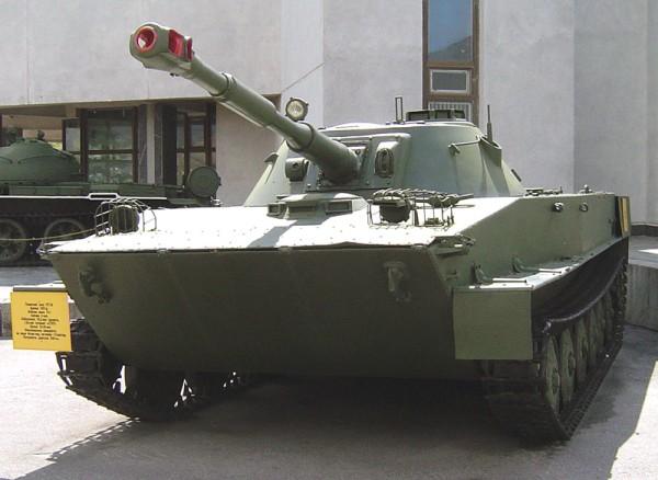 Russian PT-76 amphibious tank