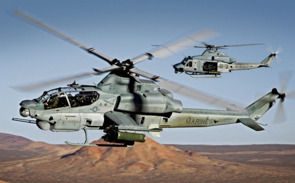 US AH-1Z Cobra attach helicopter