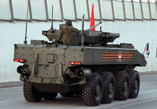 Russian Bumerang APC 8x8 rear view