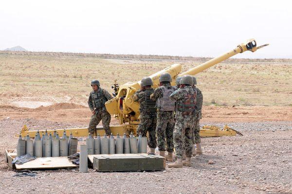 Afghan 122mm D30 howitzer