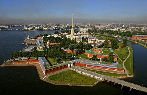 Russian Aerial View Of St. Petersburg