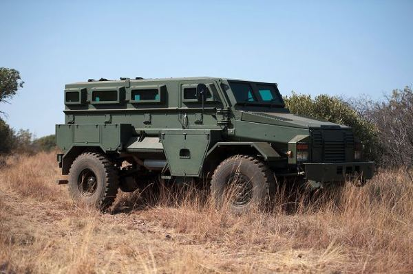 South African Puma MRAP side view