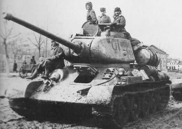 Soviet T-34 column WW2