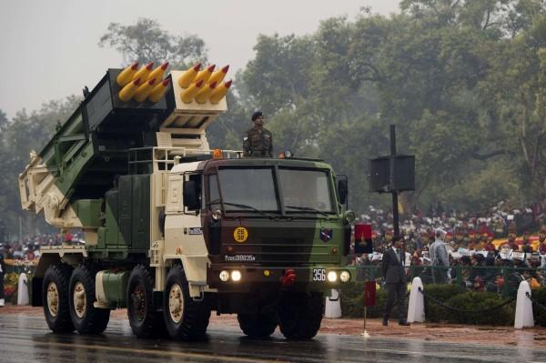 Indian Pinaka MLRS