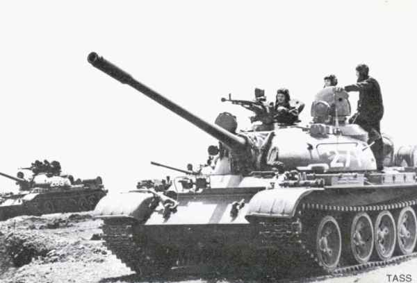 Soviet T-55 at exercise