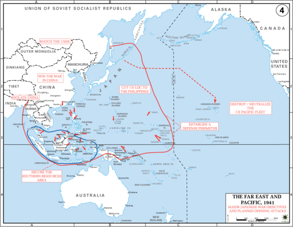 Japanese War Objectives 1941