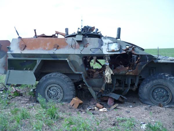 Russian BPM-97 4x4 destroyed