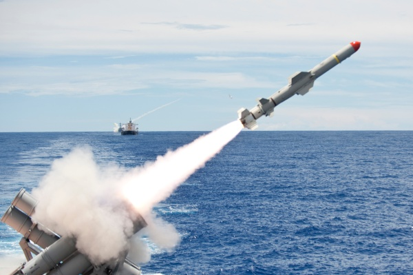 US Harpoon anti-ship missile