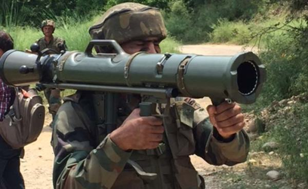 Indian soldier with Carl Gustav