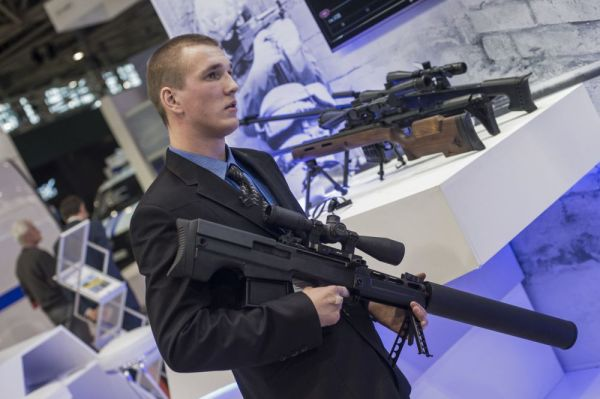 Russia Interpolitex 2015 VKS sniper rifle