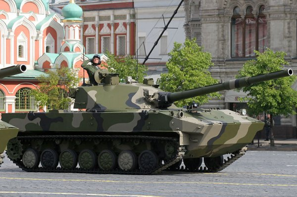 Russian Sprut SD light tank