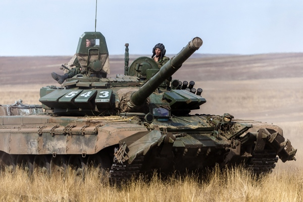 A Russian Army T-72B3 during exercises in 2015. Via Russian Ministry of Defense.