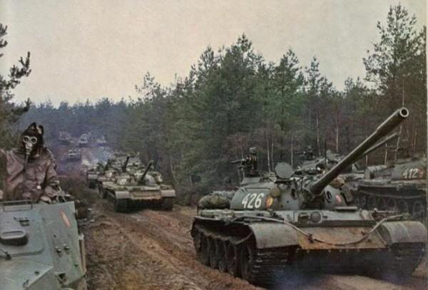 Soviet T-55 column Warsaw Pact 02