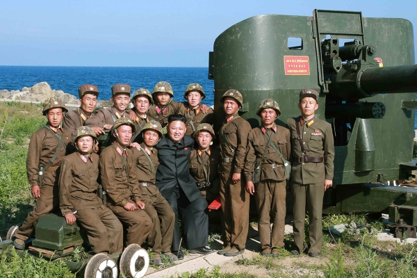 North Korea coastal gun Kim Jong Un