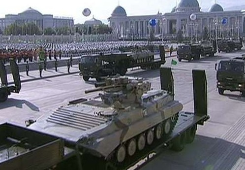 Turkmenistan BMP-1 upgraded on parade