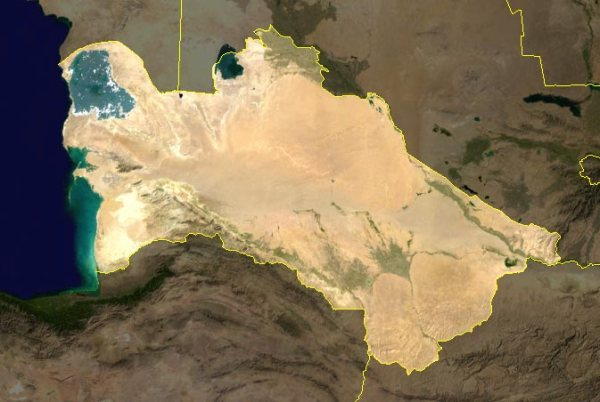Turkmenistan map via Wikimedia