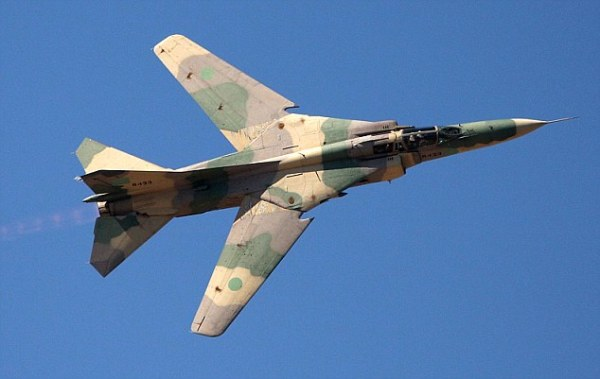 Russian MiG-23 fighter bomber