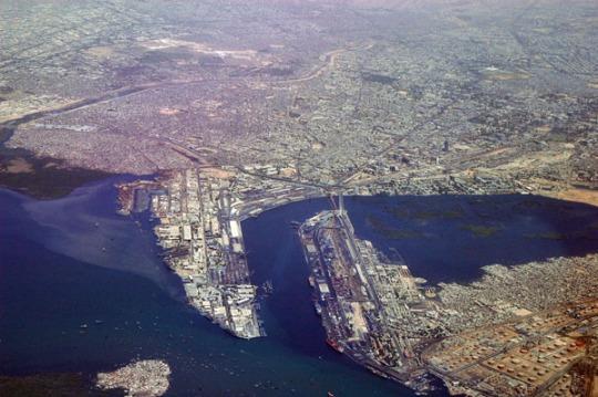 The port of Karachi.