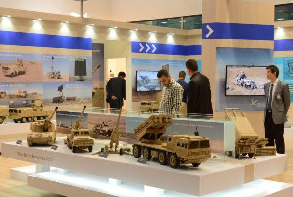 Norinco exhibit at IQDEX. Via Zeina Jawad.