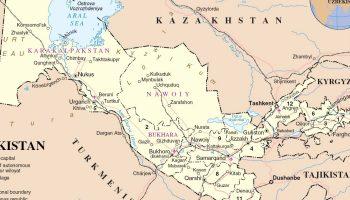 Uzbekistan Russia Map