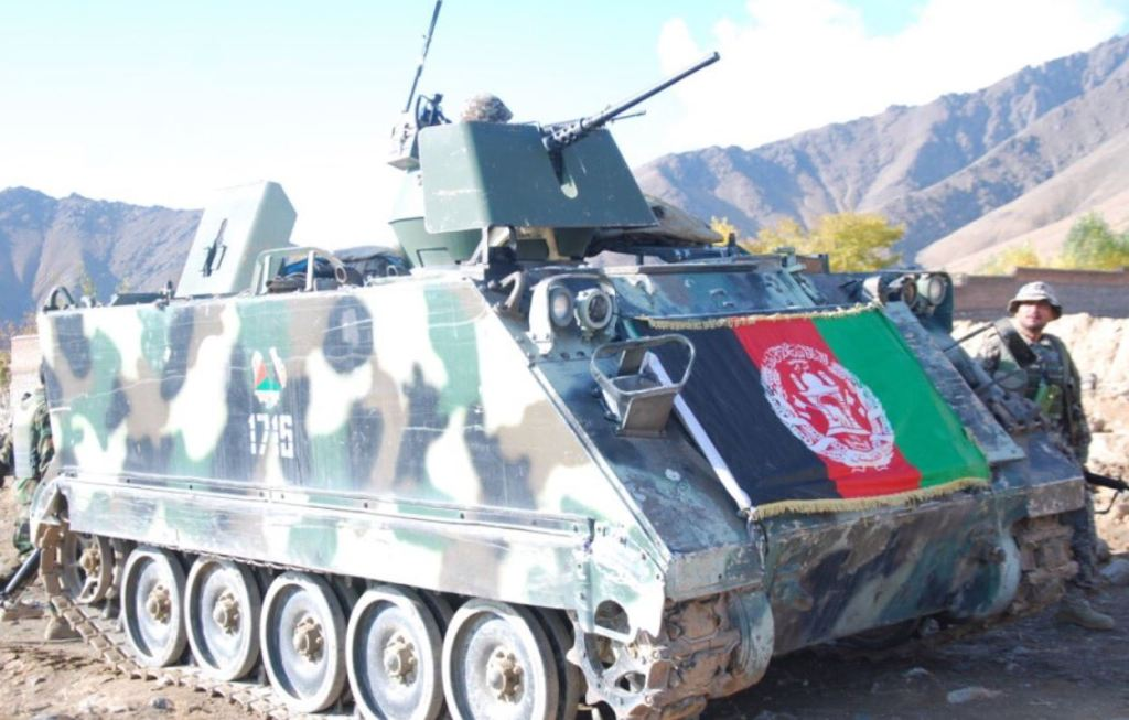 This image has an empty alt attribute; its file name is afghanistan-army-m113-apc-2020.jpg